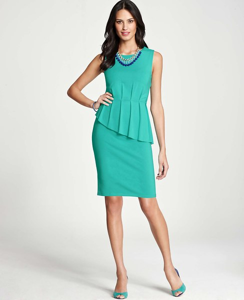 ann taylor peplum dress 1
