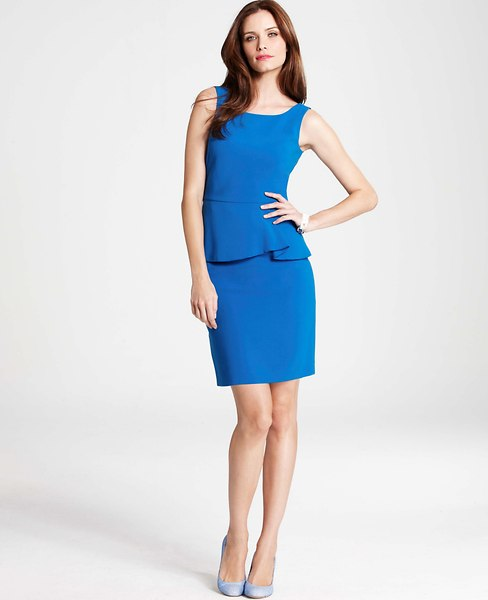 ann taylor peplum dress sheath 1