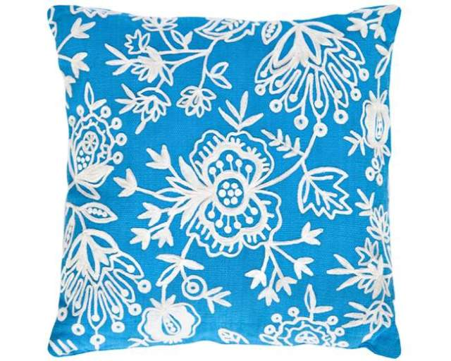 pillowFloral-Crewel-Turq-White-pillow