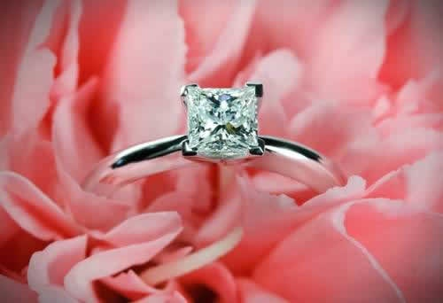 caneel engagement ring in flower 2