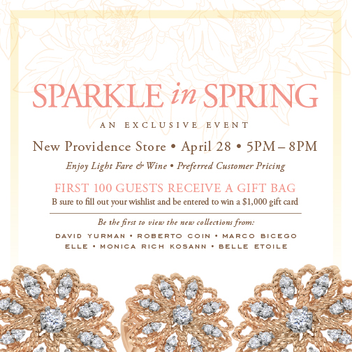 Sparkle in Spring event with Braunschweiger Jewelers